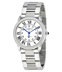 Cartier Ronde Solo Silver Opaline Automatic Ladies Watch