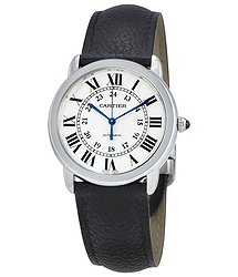 Cartier Ronde Solo Silver Opaline Dial Automatic Ladies Watch