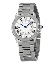 Cartier Rondo Solo Small Silver Dial Ladies Watch
