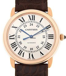 Cartier Rotonde De Cartier 18kt Rose Gold & Steel White Automatic W2RN0008