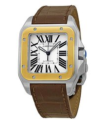 Cartier Santos 100 Automatic Silver Dial Men's Watch