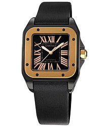 Cartier Santos 100 Pink Gold Medium Watch