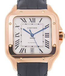 Cartier Santos 18kt Rose Gold White Automatic WGSA0011