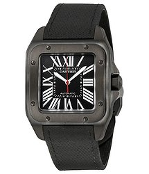 Cartier Santos Automatic Black Dial Men's Watch