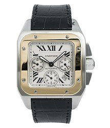 Cartier Santos Beige Dial Men's Watch