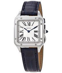 Cartier Santos-Dumont Quartz Silver Dial Ladies Watch