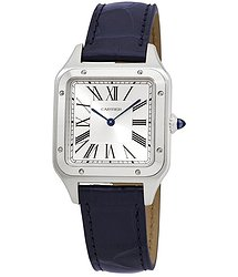 Cartier Santos-Dumont Quartz Silver Dial Men's Watch