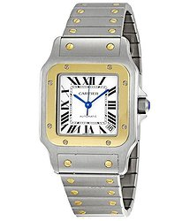 Cartier Santos Galbee 18kt Yellow Gold and Steel XL Men's Watch
