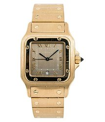 Cartier Santos Grey Dial Unisex Watch