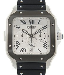 Cartier Santos Stainless Steel White Automatic WSSA0017