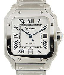 Cartier Santos Stainless Steel White Automatic WSSA0018