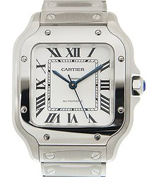 Cartier Santos Stainless Steel White Automatic WSSA0029