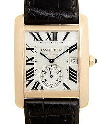 Cartier Tank 18kt Rose Gold Silvery & White Automatic W5330001
