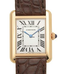 Cartier Tank 18kt Rose Gold Silvery & White Quartz W5200024