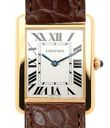 Cartier Tank 18kt Rose Gold & Steel Silvery & White Quartz W5200025