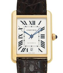 Cartier Tank 18kt Rose Gold & Steel White Automatic W5200026