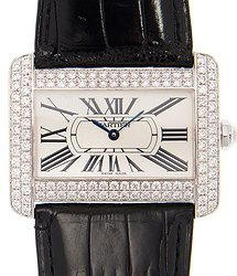 Cartier Tank 18kt White Gold & Diamond White Automatic WA301370