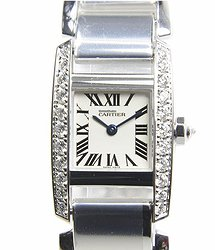Cartier Tank 18kt White Gold & Diamond White Quartz WE70039H