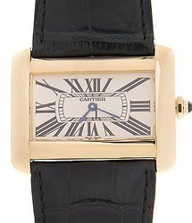 Cartier Tank 18kt Yellow Gold Beige Quartz W6300556