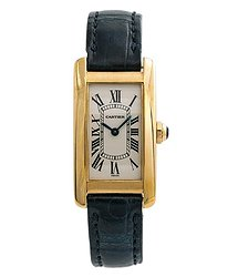 Cartier Tank Americaine 18kt Yellow Gold Ladies Watch