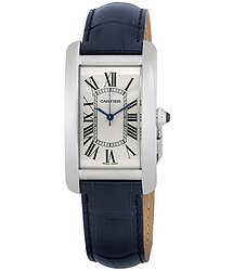 Cartier Tank Americaine Automatic Silver Dial Men's Watch