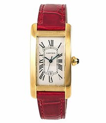 Cartier Tank Americaine Automatic White Dial Ladies Watch