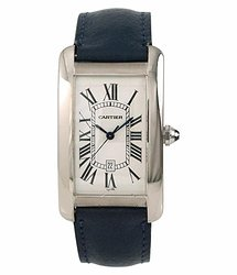 Cartier Tank Americaine Automatic White Dial Men's Watch