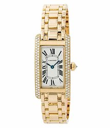Cartier Tank Americaine Silver-tone Dial Ladies Watch