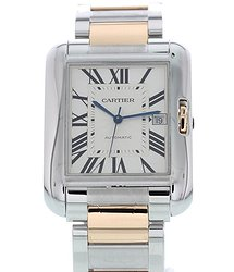 Cartier Tank Anglaise Automatic Grey Dial Men's Watch