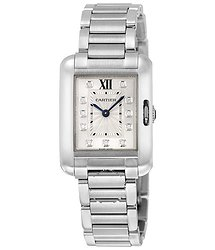 Cartier Tank Anglaise Silver Dial Ladies Watch