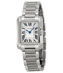 Cartier Tank Anglaise Silver-tone Dial Ladies Watch