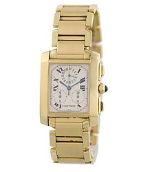 Cartier Tank Chronograph Quartz White Dial Men's Watch