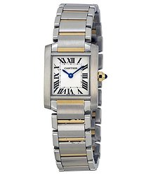 Cartier Tank Francaise 18kt Yellow Gold and Steel Ladies Watch