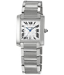 Cartier Tank Francaise Automatic Silver Dial Men's Watch