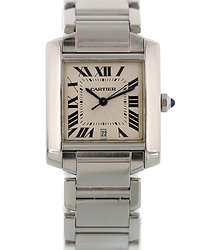 Cartier Tank Francaise Automatic White Dial Watch