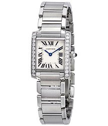 Cartier Tank Francaise Silver Dial Ladies Watch