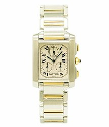 Cartier Tank Francaise White Dial Men's Watch