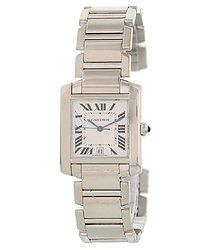 Cartier Tank Quartz White Dial Men's Watch