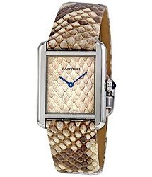 Cartier Tank Solo Python Pattern Dial Quartz Ladies Watch