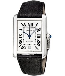 Cartier Tank Solo XL Automatic Silver Dial Men's Watch
