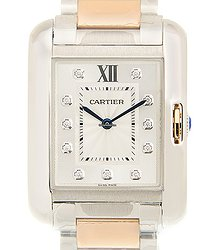 Cartier Tank Stainless Steel Silver Quartz WT100032