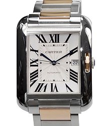 Cartier Tank Stainless Steel Silvery White Automatic W5310006
