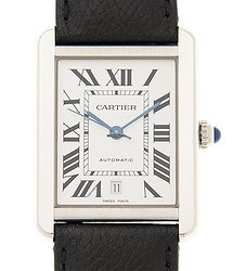 Cartier Tank Stainless Steel Silvery White Automatic WSTA0029