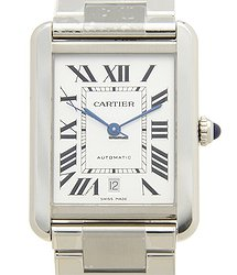 Cartier Tank Stainless Steel White Automatic W5200028