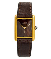 Cartier Tank Vermeil Brown Dial Ladies Watch Vintage