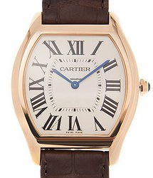 Cartier Tortue 18kt Rose Gold White Automatic WGTO0002