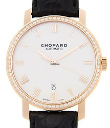 Chopard Classic 18kt Rose Gold & Diamonds White Automatic 171278-5004