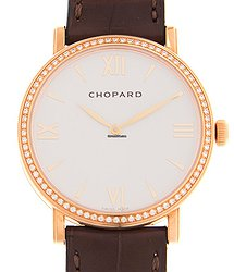 Chopard Classic 18kt Rose Gold & Diamonds White Automatic 173154-5201