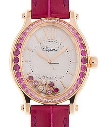 Chopard Happy Diamonds 18kt Rose Gold & Sapphire White Automatic 275362 5003