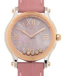 Chopard Happy Diamonds 18kt Rose Gold & Steel Automatic 278573-6011